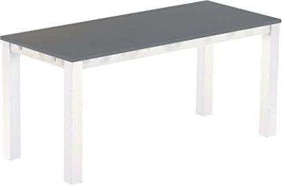Brasil Rio High Table Furniture 'Classico' Silk Grey 240 x 100 cm Solid Pine Wood – White