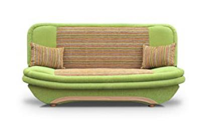 Cheap Green Sofa Bed Denis with storage and click clack mechanism. Any colors