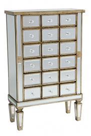 Antique Silver Wooden Cabinet 66.5x28x104 cm