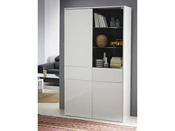 "Demeyere 427639Malia Display Cabinet 3Doors/2Drawers Particle Board White Gloss 102,6""x 181,1"