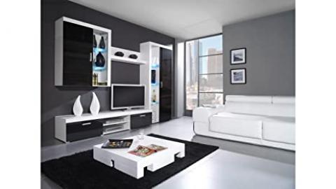 """BMF SAMBA """"B"""" COMMODE CHEST OF DRAWERS / SIDEBOARD / WALL UNIT IN HIGH GLOSS LED - BLACK"""