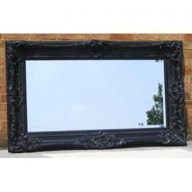 Large Ornate Black Monaco Mirror (5ft x 3ft)