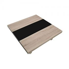 Protege Homeware Natural Oak Veneer Black High Gloss Loki Coffee Table