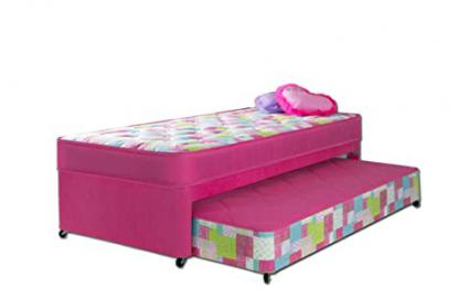 Airsprung Emma Guest Bed, Fabric, Pink, 2-Piece