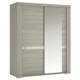 Furniture To Go Madras Sliding Door Robe with Mirror Door, 165 x 200 x 64 cm, Latte Oak