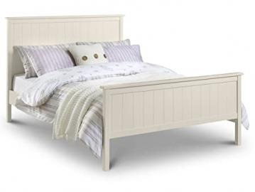 Harmony 150cm Bed Stone White Lacquered Finish Bedroom Decor