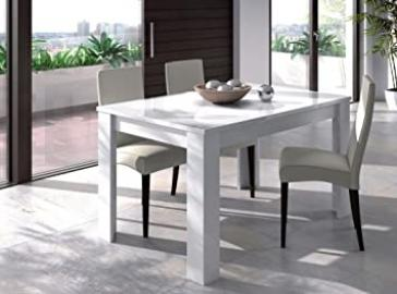 Lanza Kitchen Dining Room 4 to 6 Seat Extending Table White - 90 x 140-190