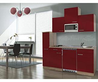 Respekta APL Ceran KB180ESRMIC Kitchen Furniture and Microwave 180 cm Rough-Cut Oak Wood Imitation