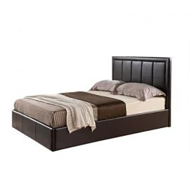 Ideal Furniture Cadbury Storage Frame Bed, Faux Leather, Brown, Double