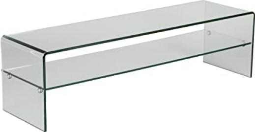 Bench TV Curved Glass 1 Shelf L80