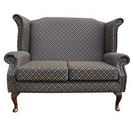Armchair in a Noir Trellis fabric