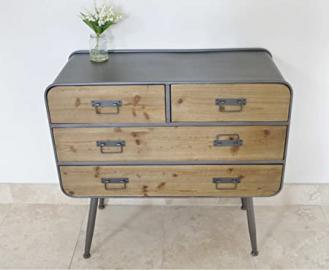 4 DRAWERS RETRO INDUSTRIAL CABINET