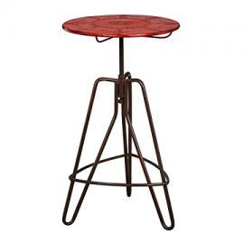 Protege Homeware Red Metal Artisan Table