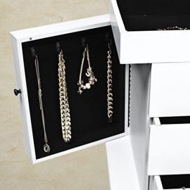 Generic NV_1001003301_YC-UK2 whiteewe Storage Box inet Floor Standing ge Bo Organiser with anise Jewelry Cabinet h Mir Mirror white Floor S