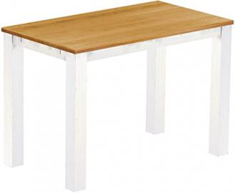 Brasil High Table 'Rio' 160 x 90 cm, Solid Pine Wood Honey Colour – White