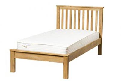 Waverly Oak Single Bed Frame in Light Oak Finish | Solid Wooden Bedroom 3ft Children's / Kids / Guest Bedstead