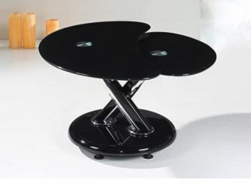 Torre Black Base And Black Glass Coffee Table
