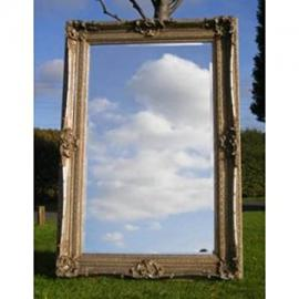 """Huge Silver Rococo Mirror (6ft 2"""" x 4ft 2"""")"""