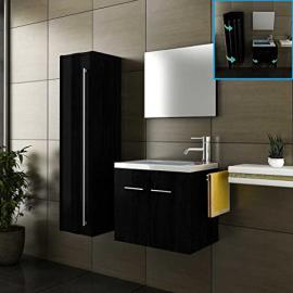 Bathroom furniture / Bathroom Sink Basin and Vanity Cabinet / Tall Cabinet / Design / Black / Wash Basin / Bathroom Set / Complete Set / Washbasin