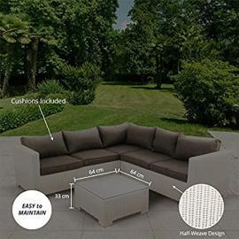 BillyOh Sala 5 Seat Rattan Corner Sofa Set - White