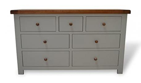 Thornton Painted Oak Large Chest Of Drawers Painted Hardwood 3 Over 4 Drawer Solid Chest With Dovetail Joints
