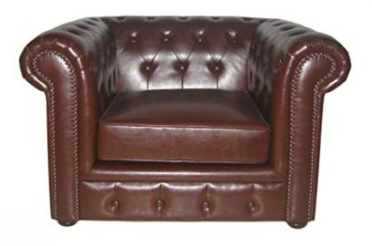 Premier Housewares Chesterfield Chair Antique Leather - 90 x 110 x 73 cm