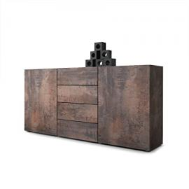 Sideboard Chest of Drawers Massa in Antique Steel