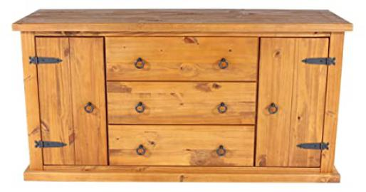 Core Products Large Sideboard, Rustic Honey Effect
