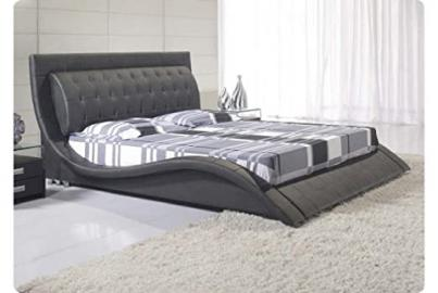 Andorra Black Bed Frame - King - Dream Warehouse