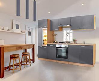 Respekta Basic Kitchen Unit - Width 270 cm - Set of 2, Total Width 270 cm Not Built beech / grey