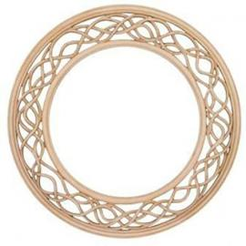 """Ivory Weave Mirror (3ft 6"""" x 3ft 6"""")"""