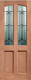 External Hardwood Dowelled Double Glazed Richmond Door with Donne Glass