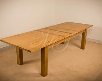 CLOVELLY SOLID WOOD CHUNKY OAK EXTRA LARGE EXTENDING DINING TABLE
