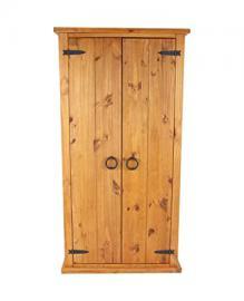 Core Products Two Door Wardrobe, Rustic Honey Effect