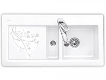 Villeroy Boch Subway 60 &La Rose Design White Ceramic Sink Kitchen