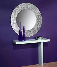Glass mirrors decorated by hand: model IRIS. Silver.