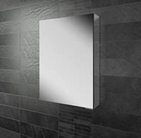 Eris 50 Single Door Mirror Bathroom Cabinet With Mirrored Sizes 50 cm