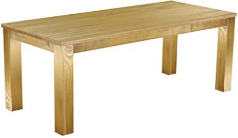 Table, 208 x 90 CM Colour Brazil / Waxed Solid Pine Dining Table Oiled