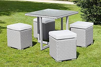 My Furniture - Cubo Grey Dining Set