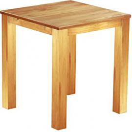 Brasil High Table Furniture 'Rio' 100x 100cm Solid Pine Wood, Colour: Honey