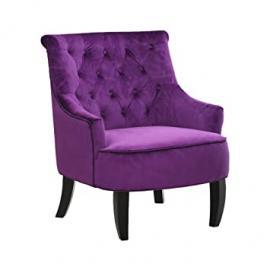 Protege Homeware Purple Fabric Hardwood/Birchwood Hertford Chair
