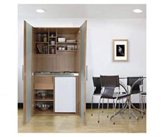 Respekta SKBMG Beech Mini Kitchen Unit with Refrigerator and Hob