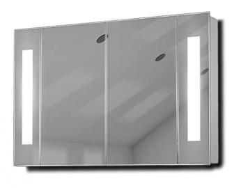 Kriya LED Illuminated Bathroom Mirror Cabinet With Sensor & Shaver k119