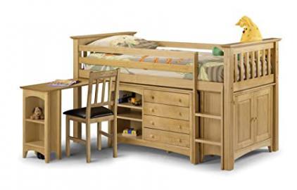 Barcelona Children's Bed Ladder Pull Out Desk 4 Drawers Shelf