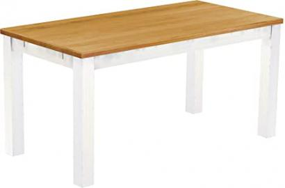 Brasilmöbel 'Rio Classico'Dining Table 180 x 80 CM Solid Pine Wood, Colour Honey-White