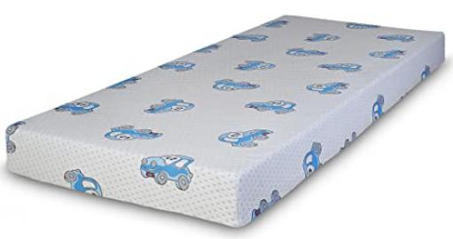 Happy Beds Choo Choo Comfy Coil Spring Orthopaedic Mattress With Removable Zip Cover 3' Single 90 x 190 cm