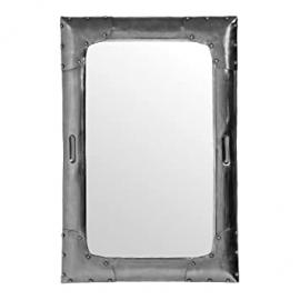 Protege Homeware Metal Antique Silver Aviator Wall Mirror