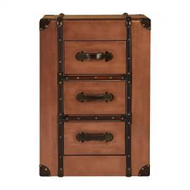 Navigator Drawer Chest Aluminium Copper 3 Drawers For Home Office Bedroom