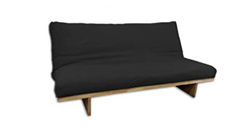 Sofa bed Yokahoma Natural, cover Black ,200x120x81 cm