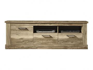 Furnline Montreal Walnut Satin Living Room TV Stand Low Board, Brown